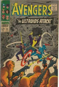 Avengers #36 ORIGINAL Vintage 1967 Marvel Comics Ultroids