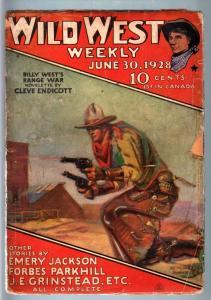 WILD WEST WEEKLY-6/30/1928-PULP-BILLY WEST G