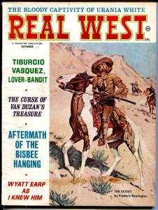 Real West 11/1965-Rederic Remington cover-Wyatt Earp-lover bandit-VG+