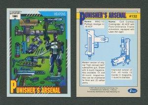 1991 Marvel Comics II  Card  #132 ( Punisher's Arsenal )  MINT