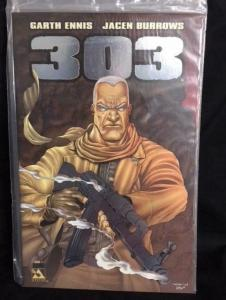 303 #1, NM, Garth Ennis, Burrows, Rifle, Avatar, 2004, Platinum, Signed