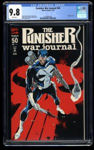 Punisher War Journal #50 CGC NM/M 9.8 White Pages