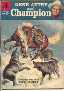 Gene Autry and Champion #121 1959-Dell-painted cover-final issue-VG
