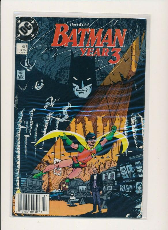 DC Comics BATMAN Year 3, #437,438,439 ~  VF or better (PF571)