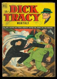 DICK TRACY #24 1949-DELL COMICS-COVER FIGHT SCENE-GOULD G/VG