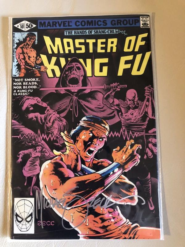 Signed Master of Kung Fu #101 With COA From Mike Zeck's Personal Collection!