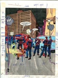 Elementals #9 Page #9 Original Color Guide Ken Feduniewicz