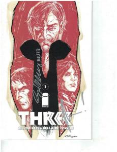 THREE (2013) 1 VF-NM NYCC VARIANT COVER SIGNED