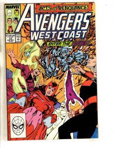 10 West Coast Avengers Marvel Comic Books # 53 54 55 56 57 58 59 60 61 62 DB3
