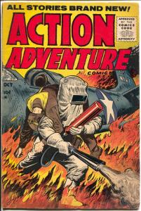 Action Adventure #4 1955-Gillmor-plane crash-Foreign Legion-final issue-VG