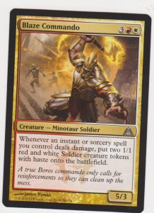 Magic the Gathering: Dragon Maze - Blaze Commando
