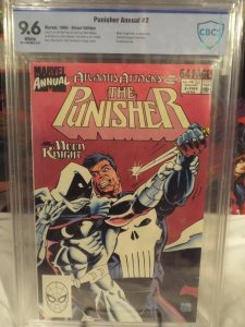 Punisher Annual #2 - CBCS 9.6 - NM+ - 1989 - Atlantis Attacks - Moon Knight