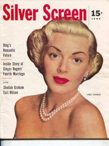 Silver Screen-Lana Turner-John Wayne-Bing Cosby-Ginger Rogers-June-1953