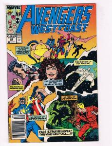 Avengers West Coast #49 VG Marvel Comics Comic Book Scarlet Witch Oct 1989 DE34