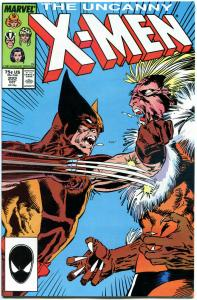 X-MEN #222, NM-, Wolverine vs Sabretooth, Claremont, Uncanny, more in store
