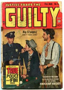 Justice Traps The Guilty #14 1950-KIRBY ART- Golden Age Crime G