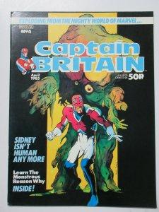Captain Britain (Marvel UK vol 2 April 1985)  #5 w Doctor Who Dalek Killer