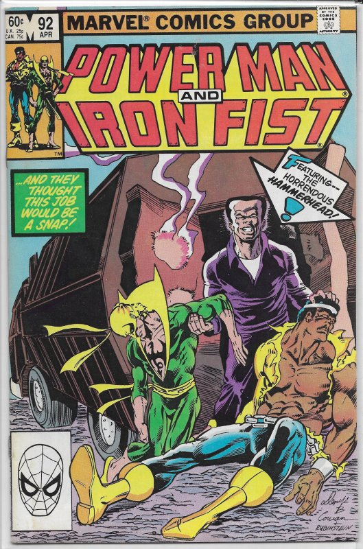 Power Man and Iron Fist   vol. 1   # 92 FN