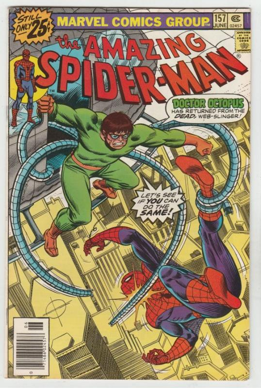 Amazing Spider-Man #157 (May-76) VF+ High-Grade Spider-Man