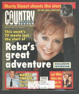 Country Weekly 9/29/1998-Reba McEntire-Lori White-Marty Stuart-Blackhawk-FN