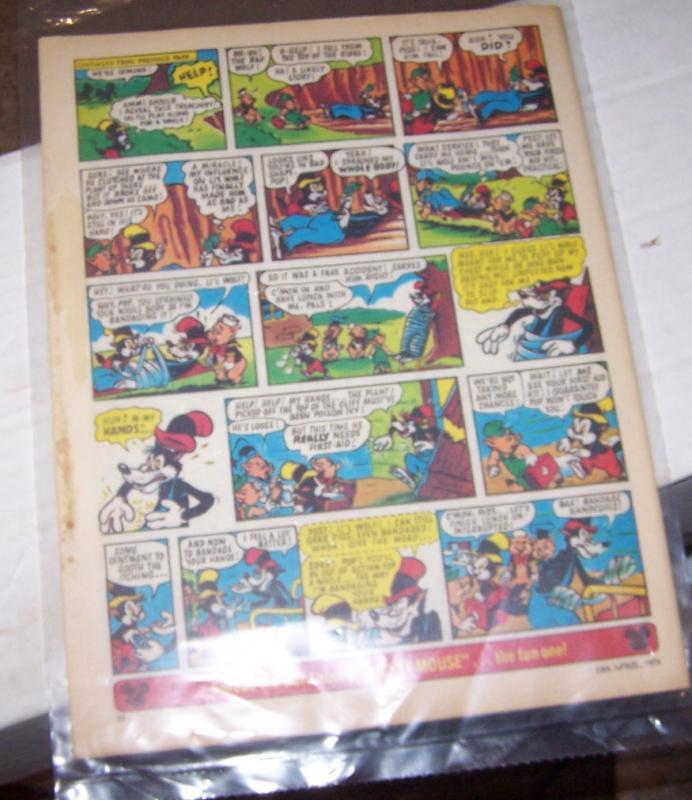 mickey mouse weekly magazine ( uk) # 130  april 15 1978 walt disney  super goof