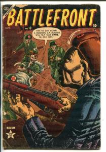 BATTLEFRONT #13 ATLAS  HITLER  CHURCHILL  ZEPPELIN 1953 G/VG