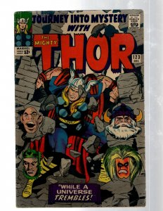 Journey Into Mystery # 123 FN Marvel Comic Book Thor Loki Odin Asgard Sif RB8