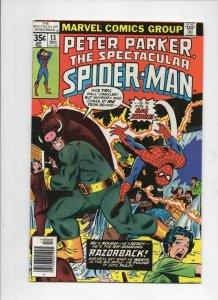 Peter Parker SPECTACULAR SPIDER-MAN #13 VF+, RazorBack 1976 1977 more in store