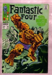 FANTASTIC FOUR #79 1968-ANDROID MAN-THING-JACK KIRBY AR VG