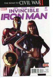 Invincible Iron Man 7 3rd Print Variant 9.0 (our highest grade) 1st App Riri!