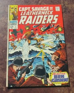 Captain Savage and his Leatherneck Raiders #7 FN 1968 Marvel Silver Age Comic