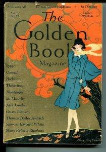 Golden Book 10/1926-Jack London-Joseph Conrad-Mary Roberts Rinehart-VG