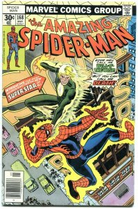 Amazing Spider-Man #168 1977- Super-Star- Marvel Comics FN