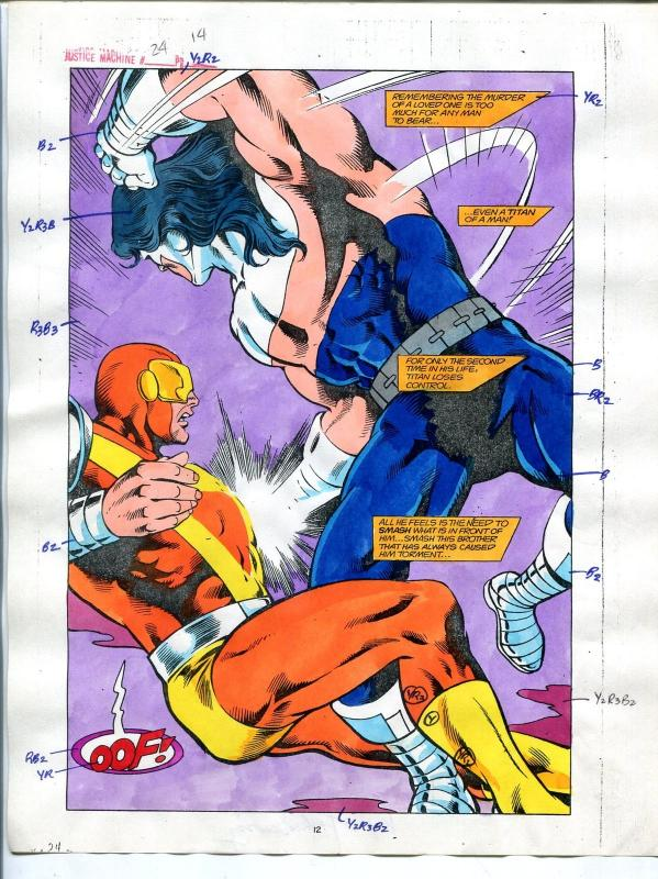 Justice Machine #24 Page #14 1988 Original Color Guide
