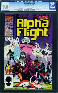 ALPHA FLIGHT #33 CGC 9.8-Lady Deathstrike first appearance-x-men 0272295008