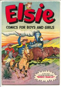 Elsie Comics For Girls and Boys 1950's-DS-Brooklund buffalo hunt cover-Borede...