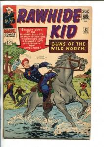 RAWHIDE KID  #53-1966-MARVEL-VIOLENT ISSUE-vg/fn