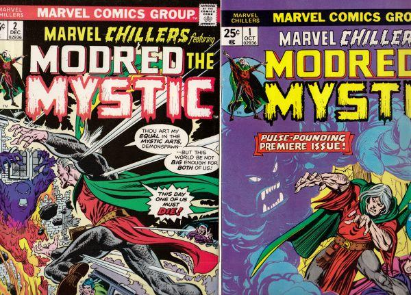 Marvel Chillers Modred Set #1to2 (Oct-75) NM Super-High-Grade Modred the Mystic