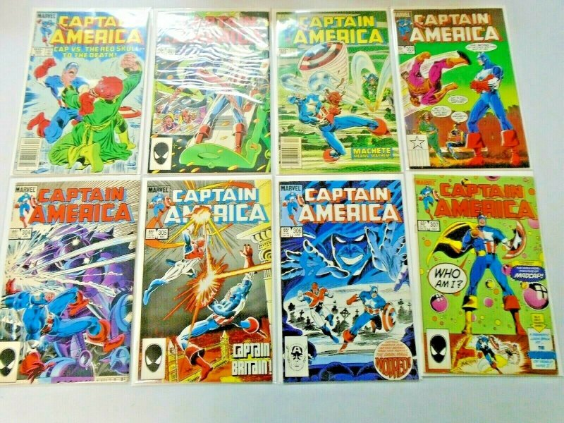 Captain America Comic Lot #300-349 42 Diff Avg 7.0 (Range 6.0-8.0) (1984-1989)