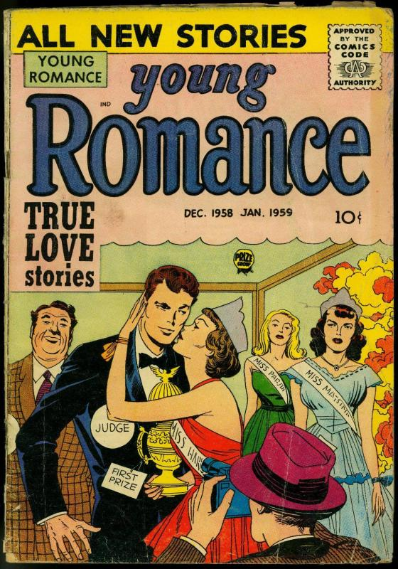 Young Romance Vol. 12 #1 1958 Simon & Kirby art- Pageant cover G/VG