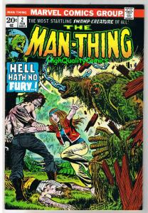 MAN-THING #2, VF-, Swamp Thing, Val Mayerik, 1974, Fear, more in store