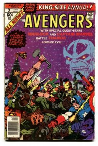AVENGERS ANNUAL #7 1977 THANOS ISSUE KEY BRONZE AGE MARVEL VG