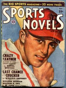 Sports Novels Pulp May 1949- Crazy LEather- Last Chance Chucker G/VG