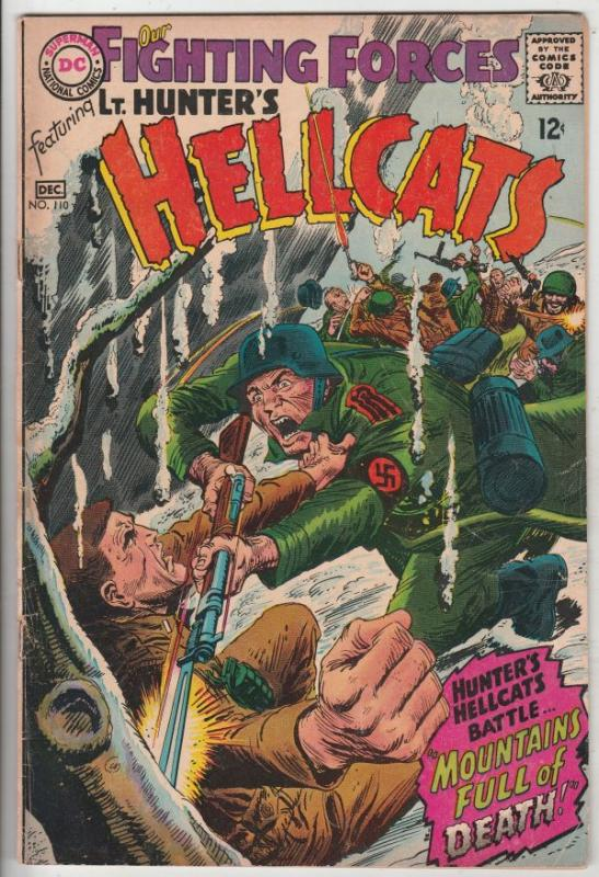 Our Fighting Forces #110 (Dec-67) FN- Mid-Grade Lt. Hunter, the Hellcats