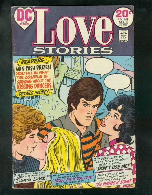 LOVE STORIES #151 1973-KISSING DANCERS-SWIMSUIT PANELS VG-