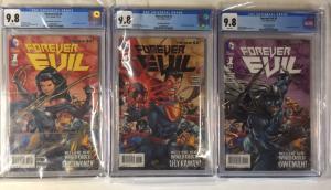 Forever Evil 1 Cgc 9.8 Variant Set Ultraman Owlman Superwoman Complete