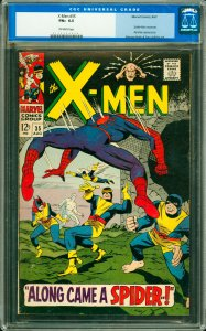 X-Men #35 CGC Graded 6.5 Spider-Man Crossover. Banshee appearance.