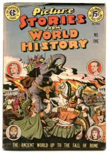 Picture Stories From World History #1 1947- EC comics-VG+