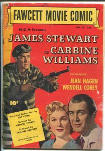 Fawcett Movie Comic #19 1952-western-Carbine Williams-James Stewart-VG-