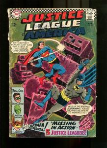 JUSTICE LEAGUE 32-1967-SUPERMAN AND BATMAN COVER G